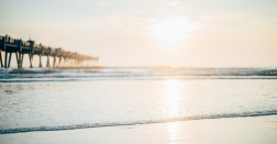 Jacksonville Beach Pier at Sunrise